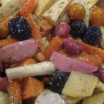 Roasted Root Vegetables with Horseradish Sauce