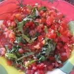 Bruschetta with Fresh Vine Ripened Tomatoes