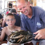 Rustic Fish Meal on Boat Dubrovnik