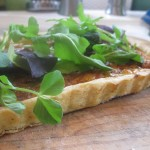 Herb Tart Crust Crouton with Salad Greens