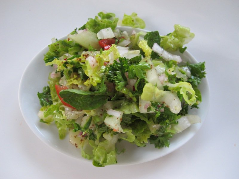 Shelley S Fatoushe Salad A Green Tossed Salad With A Twist