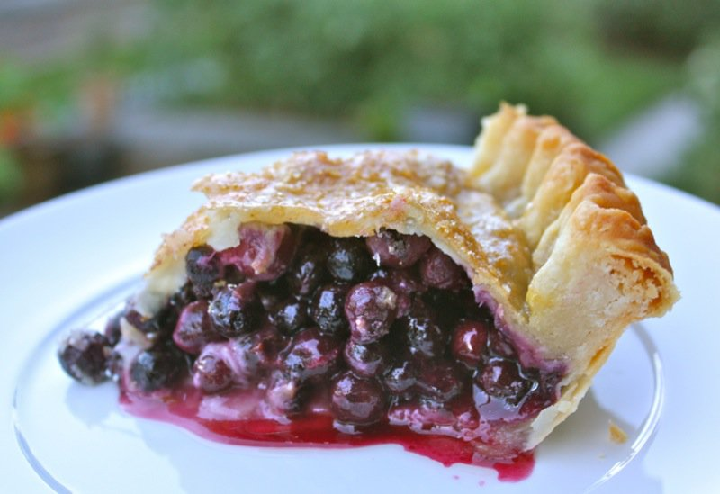 Traditional Homemade Saskatoon Berry Pie