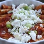 Roasted Tomato Enchilladas (Tomato en Salsa Roja