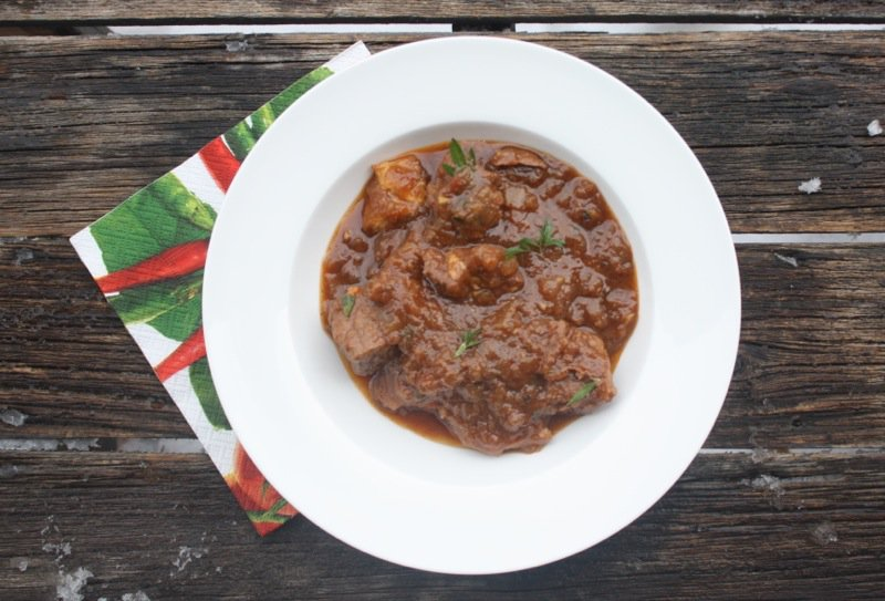 Serbian goulash i used round steak from natures green acres nouveau beef vanjas mother would buy a piece of meat from her butcher of the cow that is worked hard and cook forumfinder Choice Image