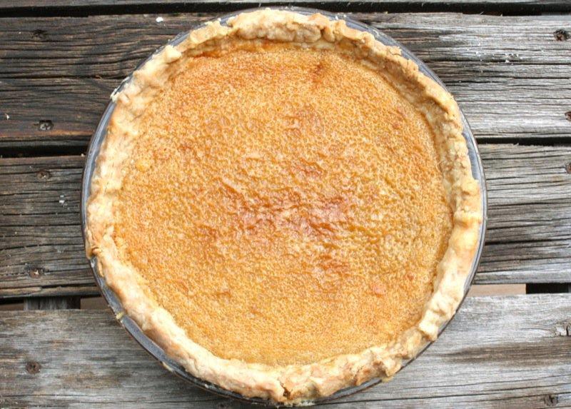 Canadian Maple Syrup Sugar Pie or Le sirop d'érable Tarte au sucre