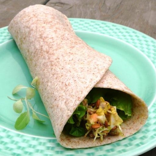 Amy Jo Lentil sprout wrap