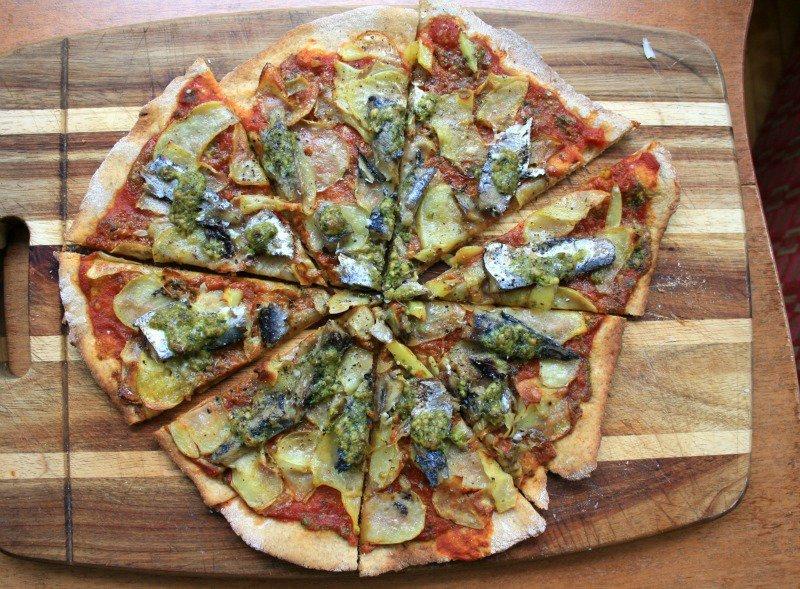 Bridget Sardine pesto Pizza