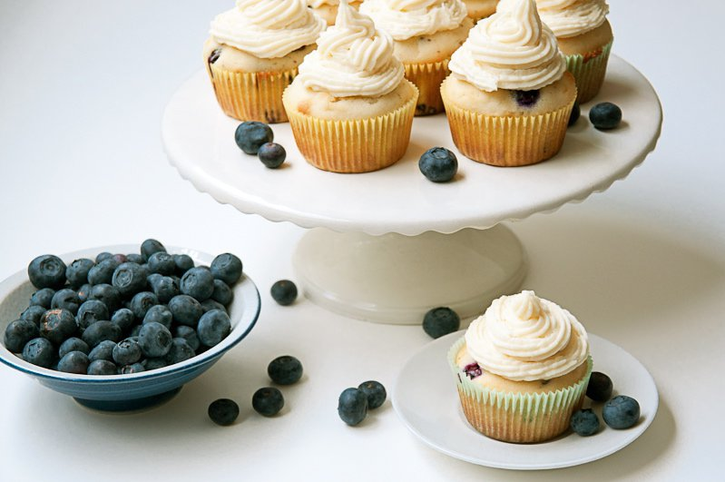 Heather Lang Blueberry Cupcakes