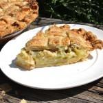 Grandma Maude's Rhubarb Custard Pie