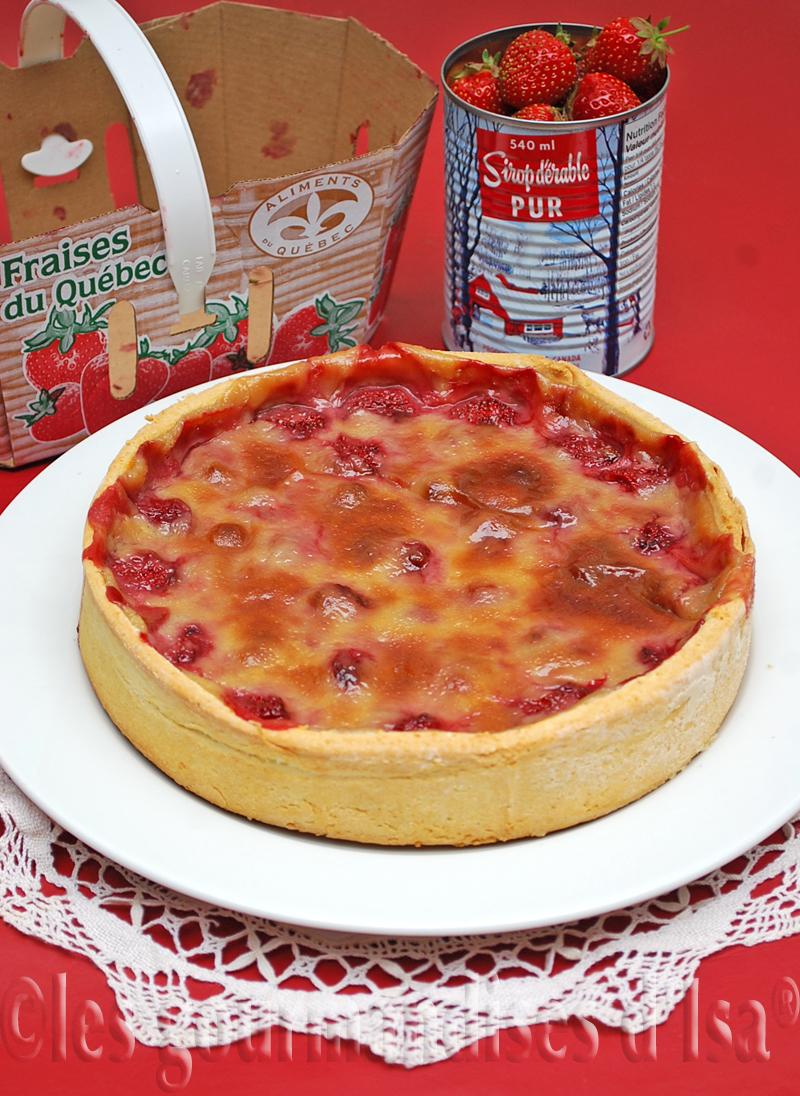 Isabelle tarte aux fraises et au sirop d'érable