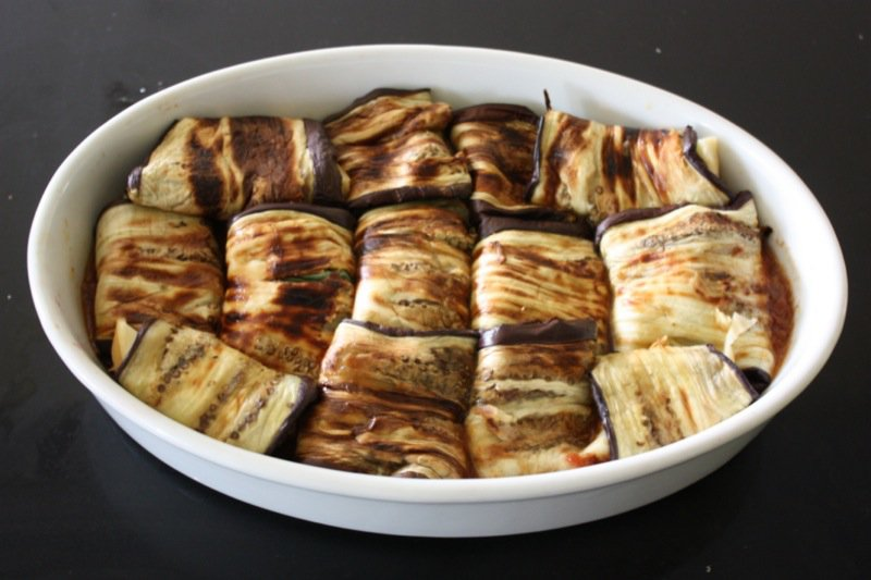 Preparation for Eggplant Rollatini