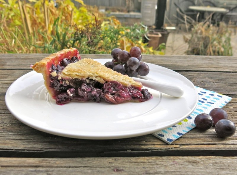 Canadian Classic Concord Grape Pie