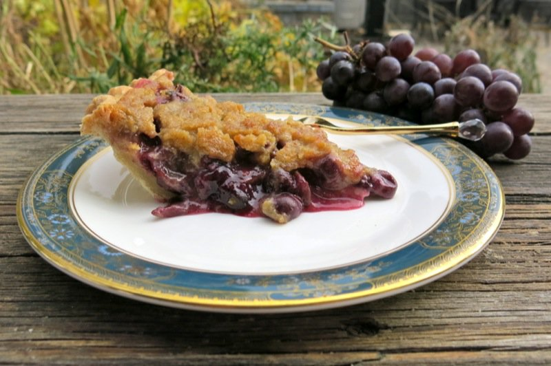 Concord Grape Pie with Crumble Topping Slice 2