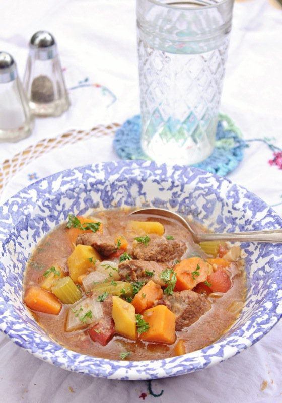 Jennifer Beef stew with winter vegetables
