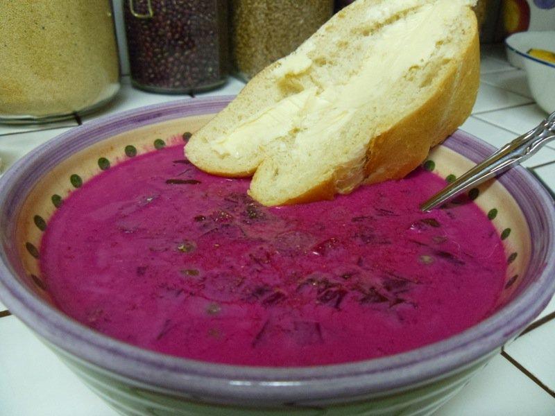 Lesli bowl of borscht