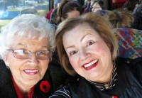 Mom and Valerie on bus
