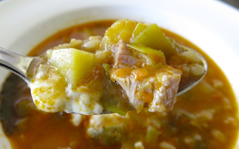Polish Barley Soup with Chicken