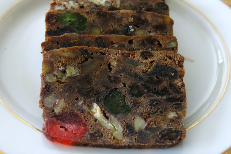 Traditional Canadian Christmas Cake or Bourbon Fruit Cake