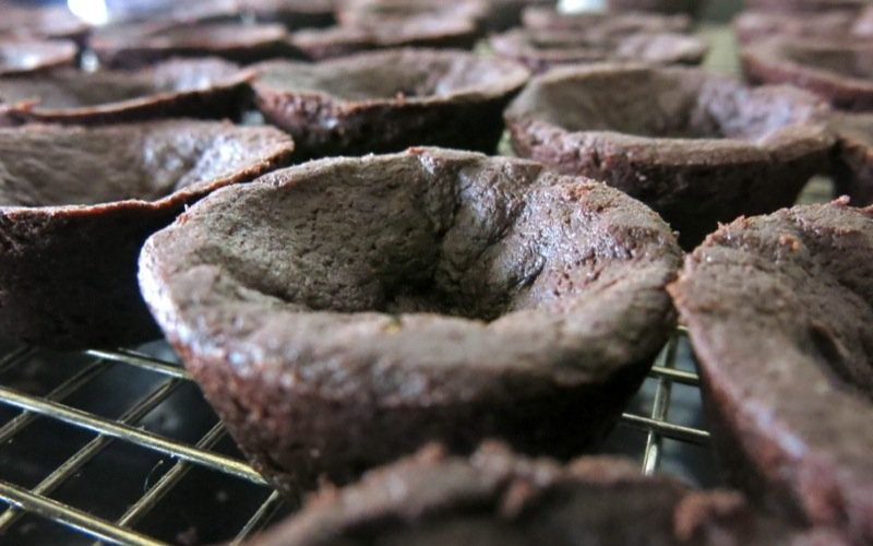 Chocolate Shortbread Crust or Tart Shells