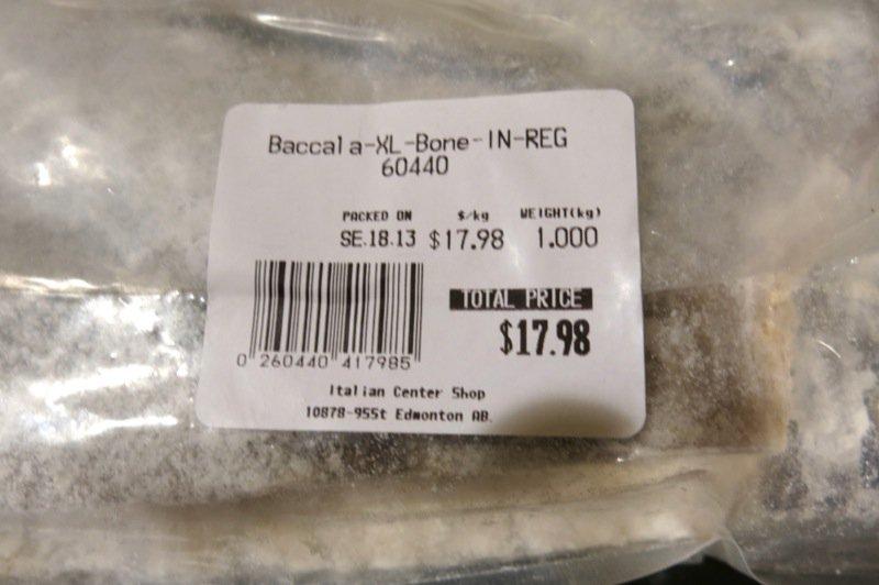 2 Baccala Label