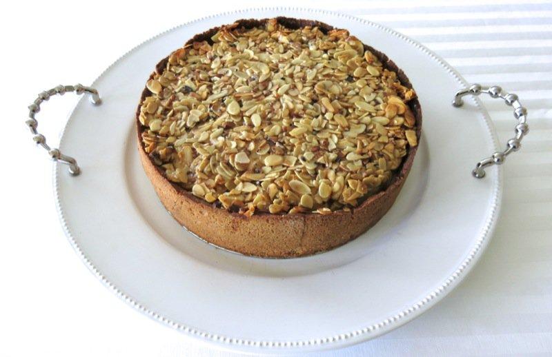 34 Apple Almond Pie on Platter