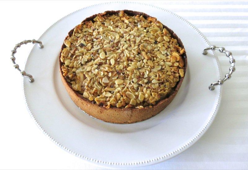 38 Apple Apmond Pie on Platter