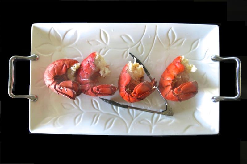 9 Lobster Tails on Platter