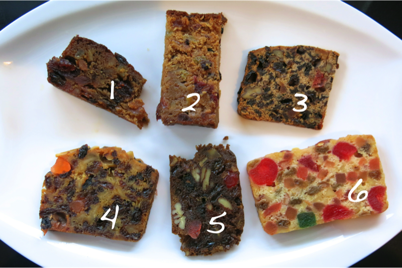 10 Christmas Cake Tastings Numbered