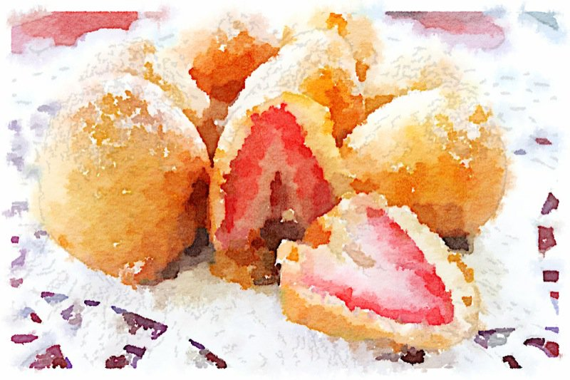 Strawberry Fritters for Valentine's Day