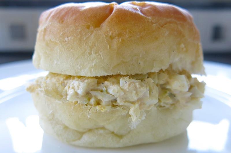 14 Homemade Eggsalad on a homemade bun