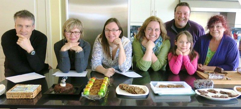 17 Group for Christmas Fruit Cake Tasting