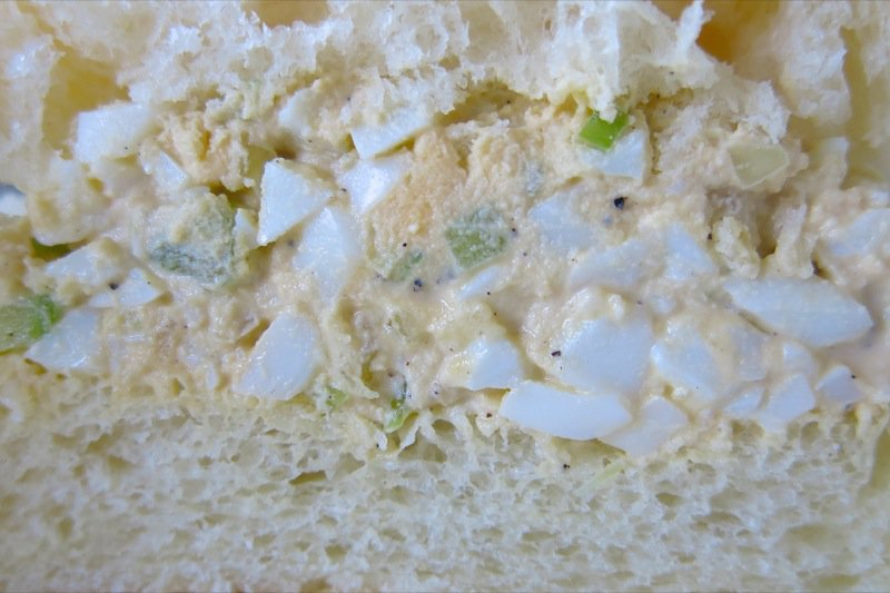 4 Homemade Eggsalad close up on bun