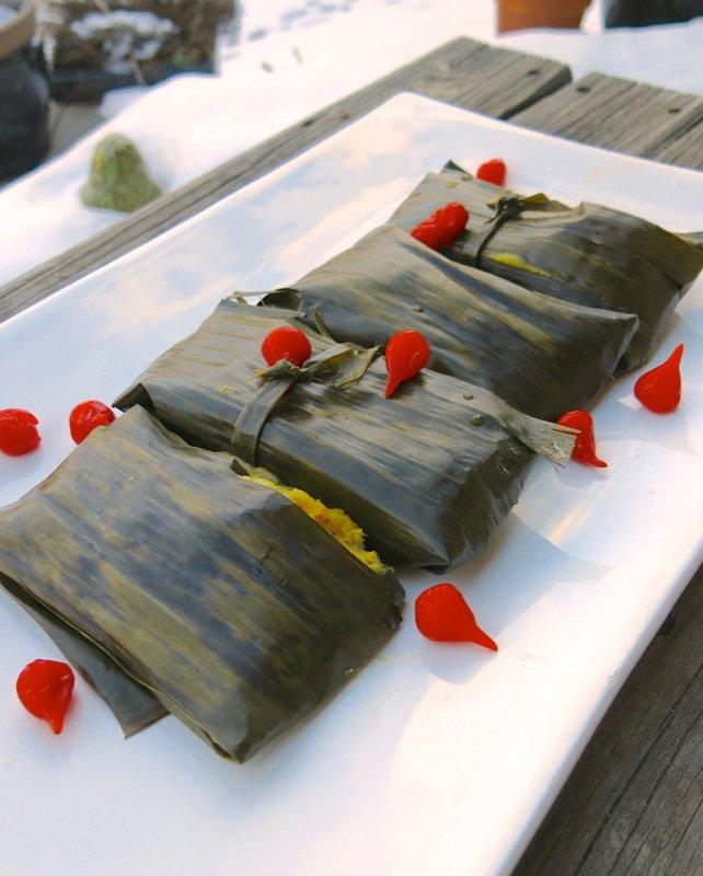 ... leaf cookies curry leaf fried chicken vegetarian banana leaf tamales
