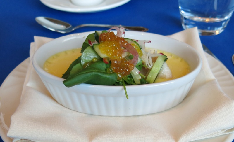 10 Lunch with Chef Lynn Crawford shallot creme brulee with smoked trout NAIT