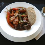 13 Irish Stew plated with Irish Soda Bread