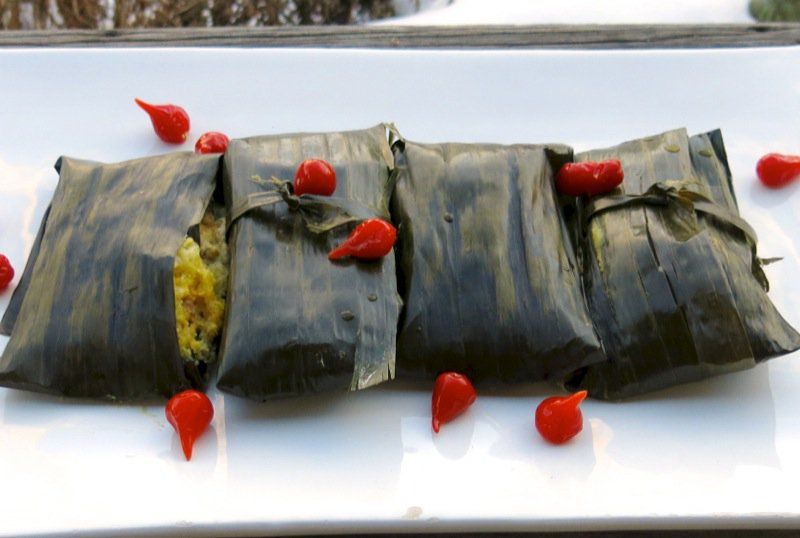 Corn Tamales: Corn Husks and Banana Leaves