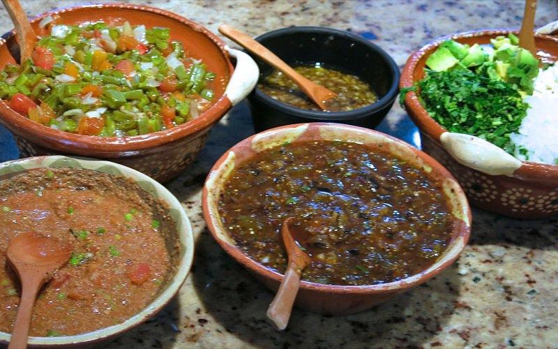 3 Five  Mexican Salsas