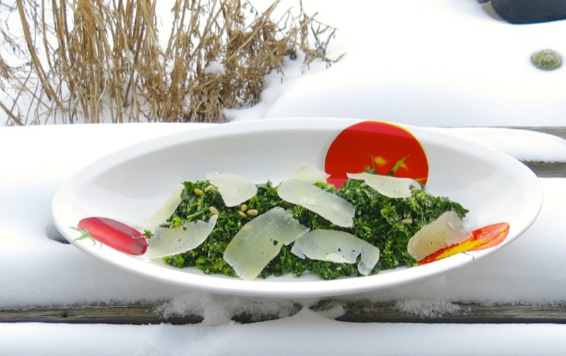 3 Kale and Pinetip Salad