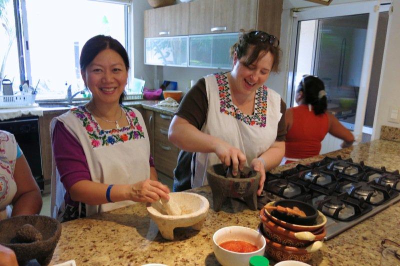 36 Making Salsas Jenny and Jen