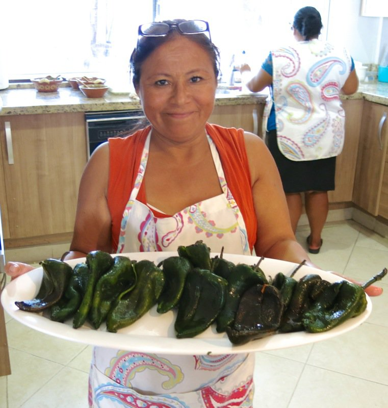 73 Roasted Pablano Peppers