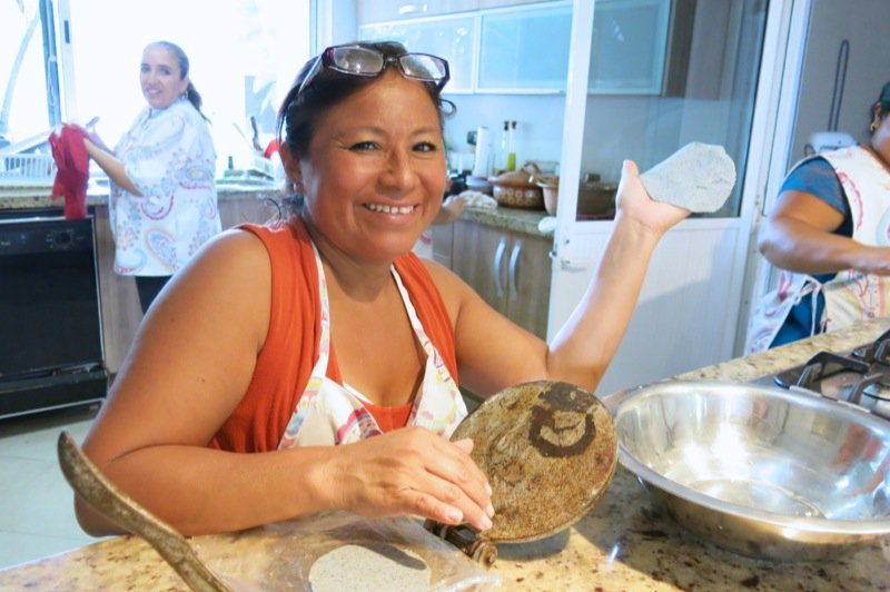 90a Maria making tortillas