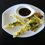 Korean Scallion Pancakesand Dipping Sauce
