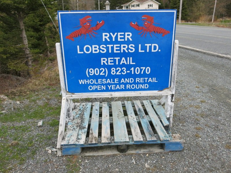 Ryer's Lobster enroute to Peggy's Cove