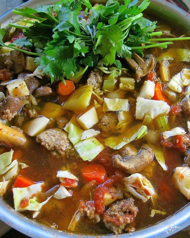 15 Hamburger Harvest Soup