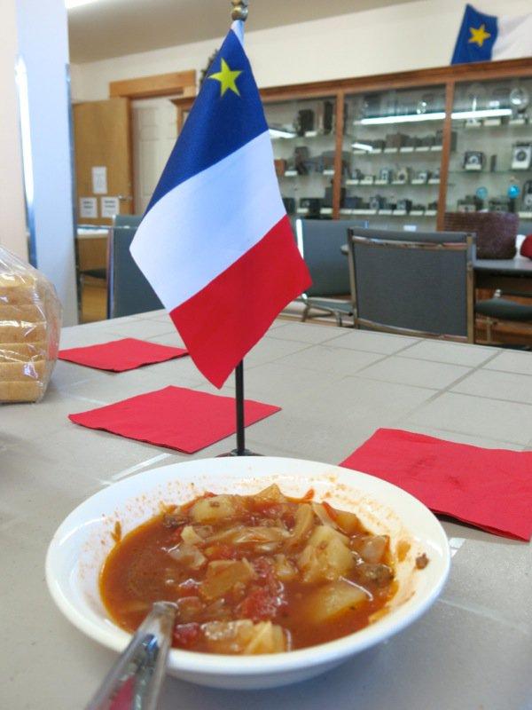Harvest Hamburger Soup and Bernice d'Entremont
