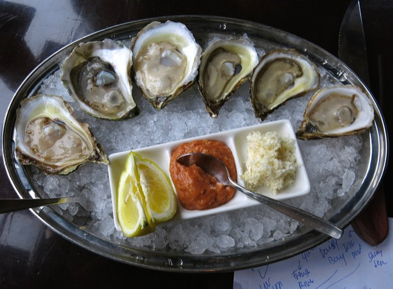 1 Malpeque Oysters at Sims Oyster Bar