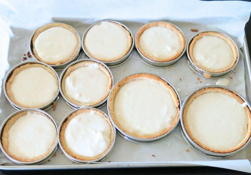 25 Crème pâtissière in Tart Shells