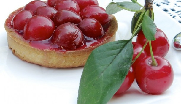 Sour Cherry Tarts with Marzipan