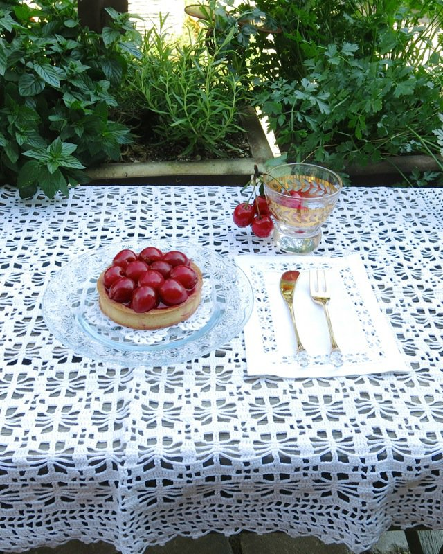33  Sour Cherry Tart with Marzipan