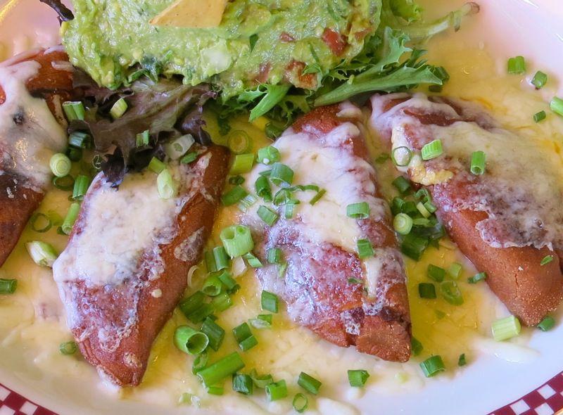 1 Red Iguana Enchiladas Potisinas